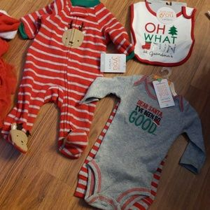 Newborn infant baby boy holiday sleepers